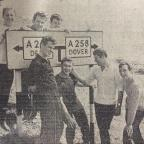 Bury Times: Radcliffe's world record-breaking Channel swim team June 1966.