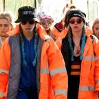 Bury Times: Here's Cara Delevingne and Suki Waterhouse attempting to blend in with the crowd at Glastonbury