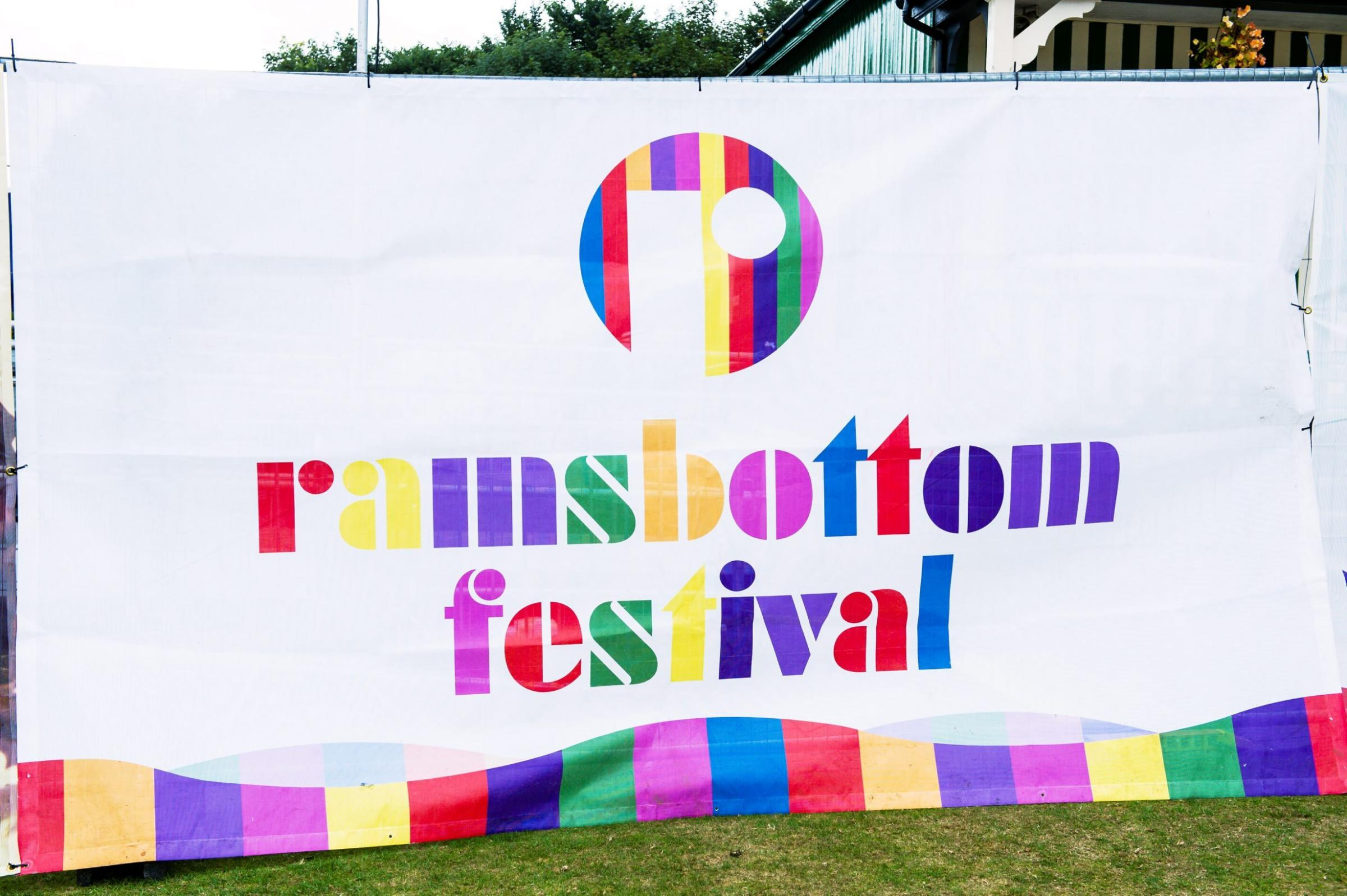Photo:Andy Whitehead Photography Ltd.Ramsbottom Festival 2015.20/09/15..Banner displaying the name of the Ramsbottom Festival 2015 held at Ramsbottom Cricket Club, Acre Bottom, Ramsbottom, Greater Manchester, BLQ 0BS on Sunday 20th September 2015. Copyrig