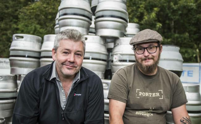 From left, Lee Hollinworth, owner of The Clarence/Silver Street,  and Craig Adams, head brewer.