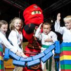 Bury Times: Children from Sale Dojo launch Ninjago event at Legoland Discovery Centre Manchester