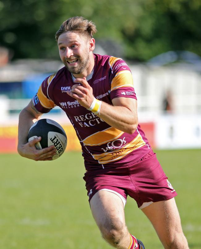 Andy Riley ran in five tries in Sedgley Tigers' 67-14 victory over Scunthorpe