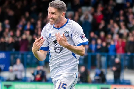 Ryan Lowe scored his first goal in three appearances since returning to Bury for his third spell at the club in January