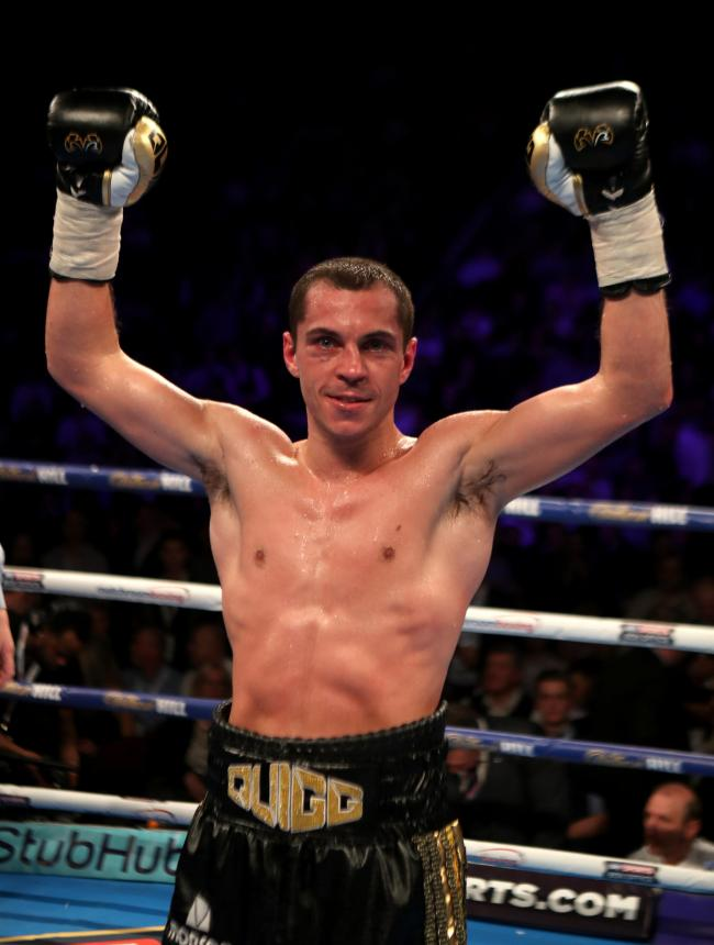 Scott Quigg won a unanimous points decision to seal victory at Wembley