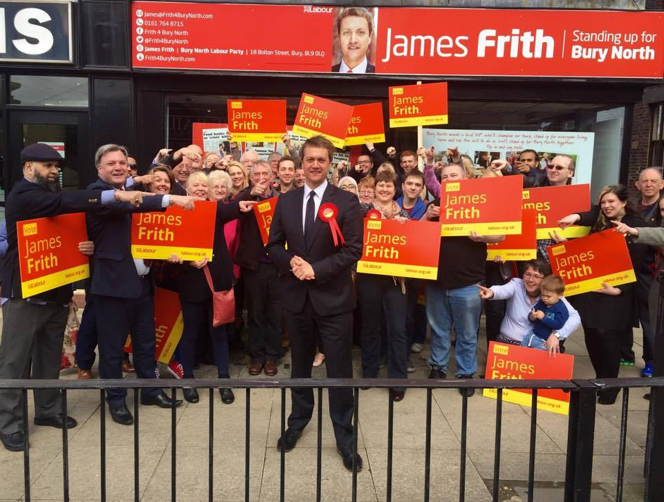 James Frith has been chosen as the Labour Party candidate for Bury North