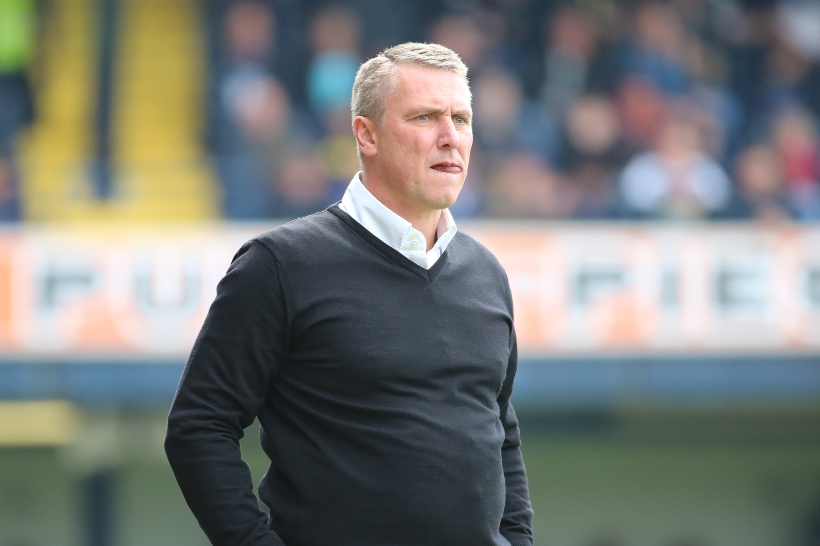 DEEP IN THOUGHT: Lee Clark, at Southend yesterday, has plenty to ponder despite Bury's escape from relegation
