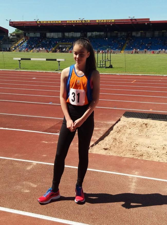 Amy Garroch performed well in the 75m hurdles at the Mason Trophy event in Birmingham