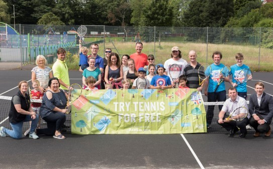 EVENT: Residents celebrate the Great British Tennis Weekend at St Mary's Park in August 2017