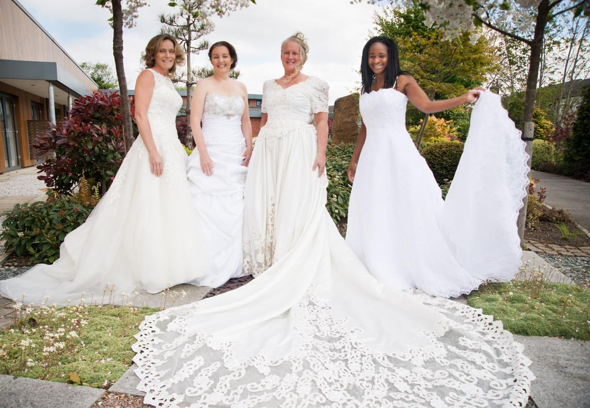 Hospice nurses model wedding dresses for launch of charity\'s new ...