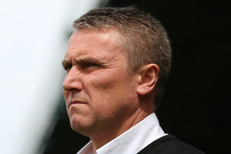 Lee Clark saw his side lose at home against MK Dons