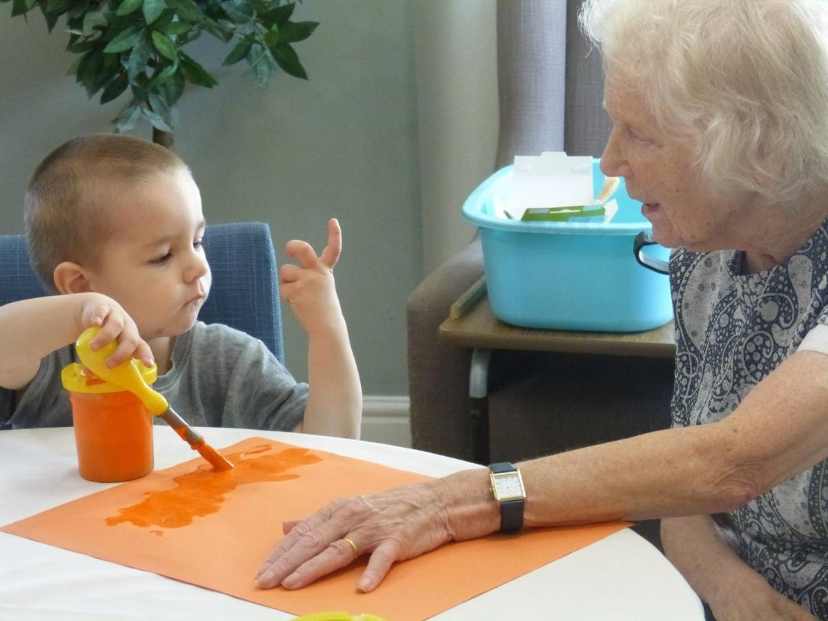 PICTURES Old And Young Teach Each Other A Lesson As Nursery Meets Care Home