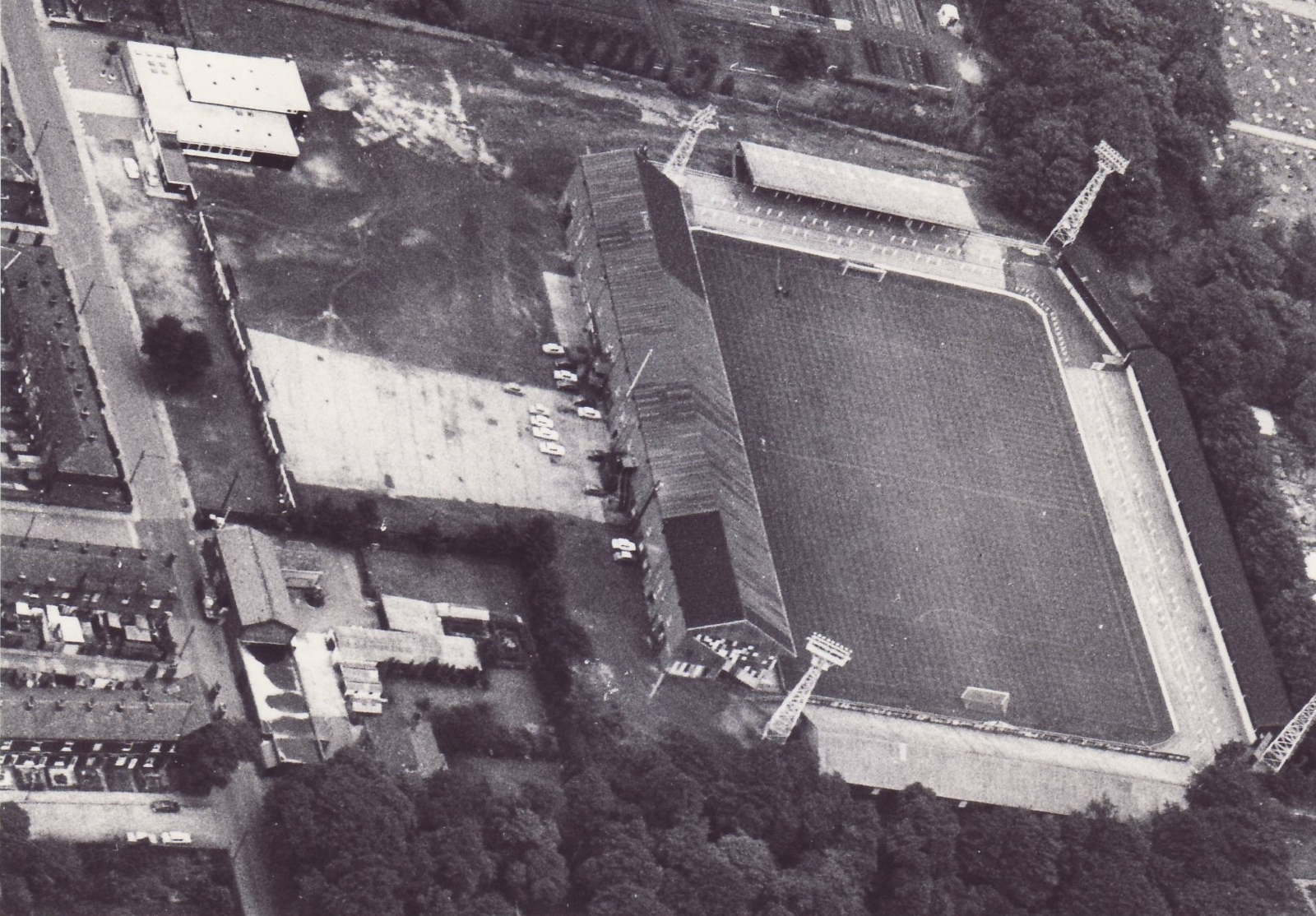 Overhead picture of Gigg Lane – but when was it taken?