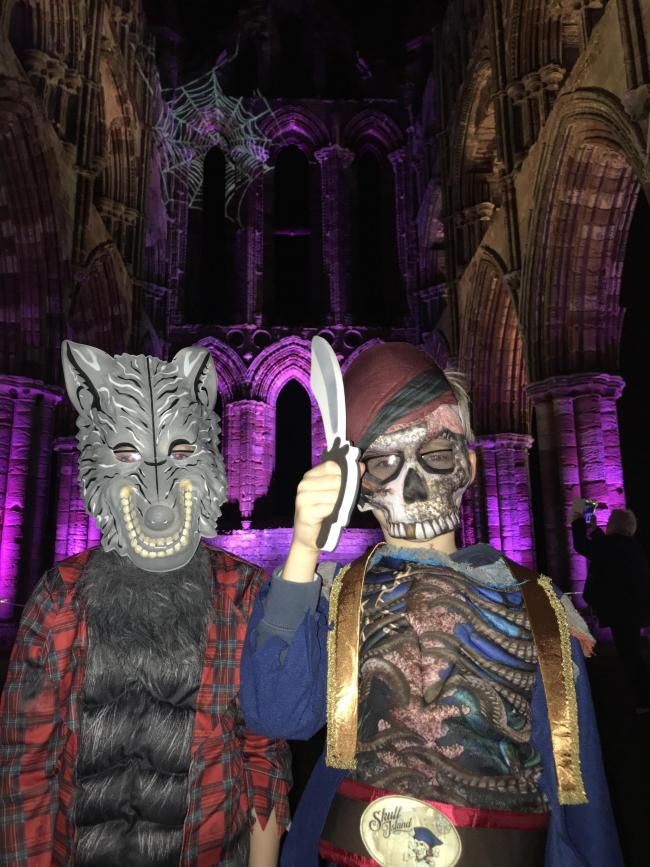Joseph the werewolf and Daniel the zombie pirate at Whitby Abbey