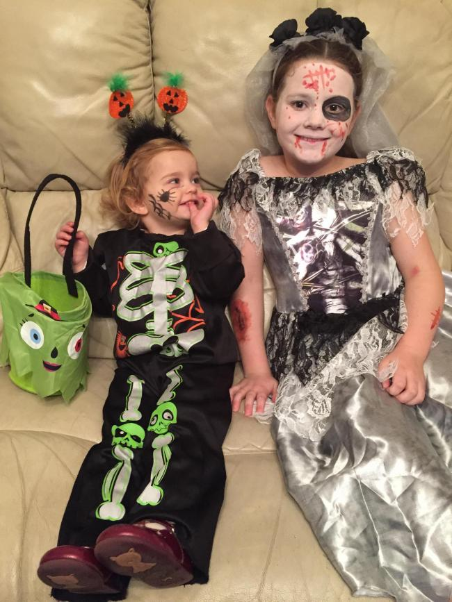 Heidi and Lucia Burgess having a super Halloween