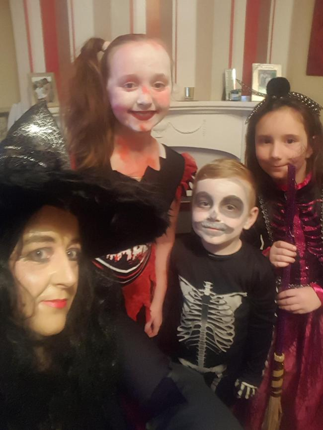 Off to a halloween party with Natasha age10 Millie age 6 and Liam 5 x fun times x