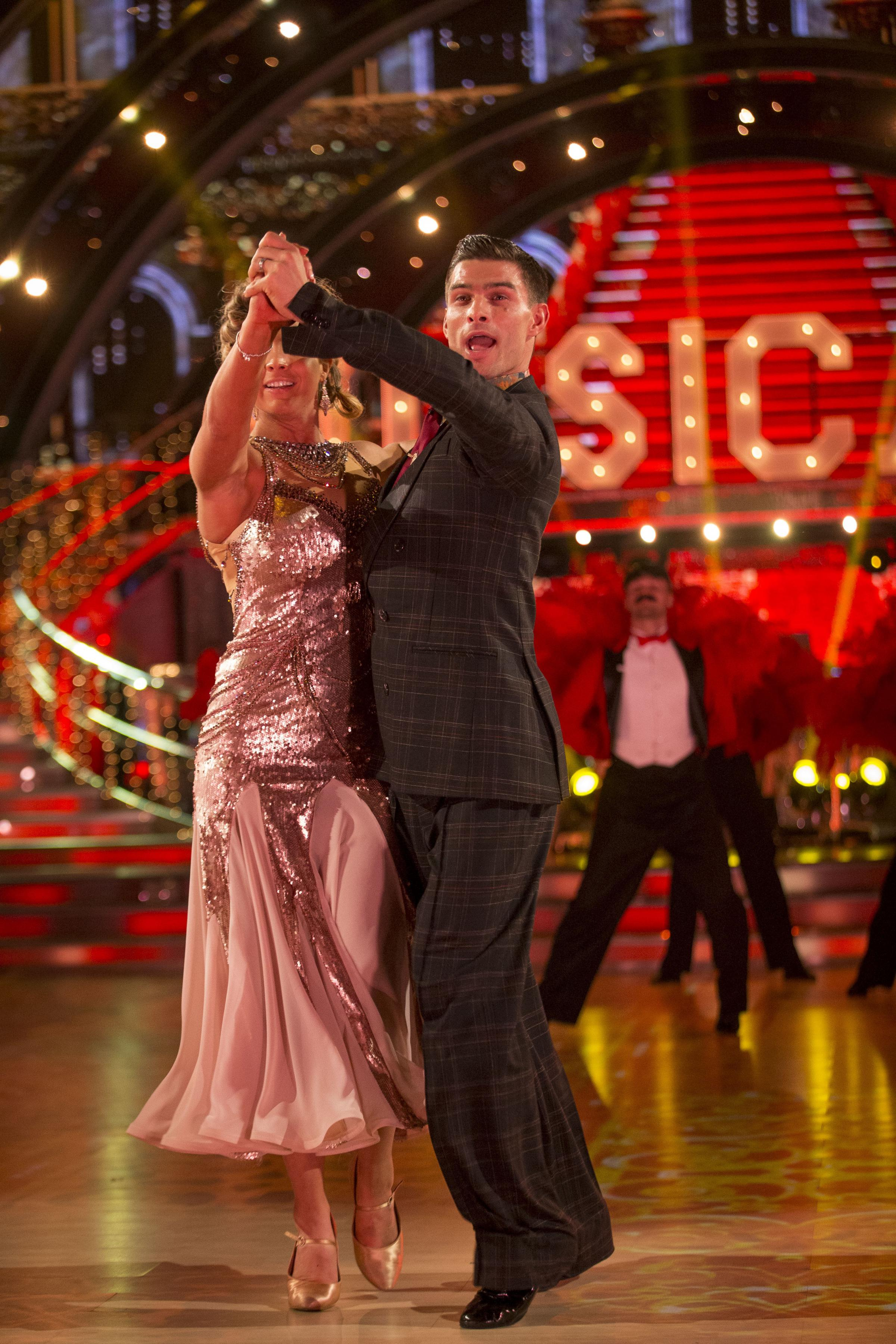 SEMIS: Gemma Atkinson and partner Aljaz Skorjanec performing in Strictly 2017 Picture Guy Levy/BBC/PA Wire
