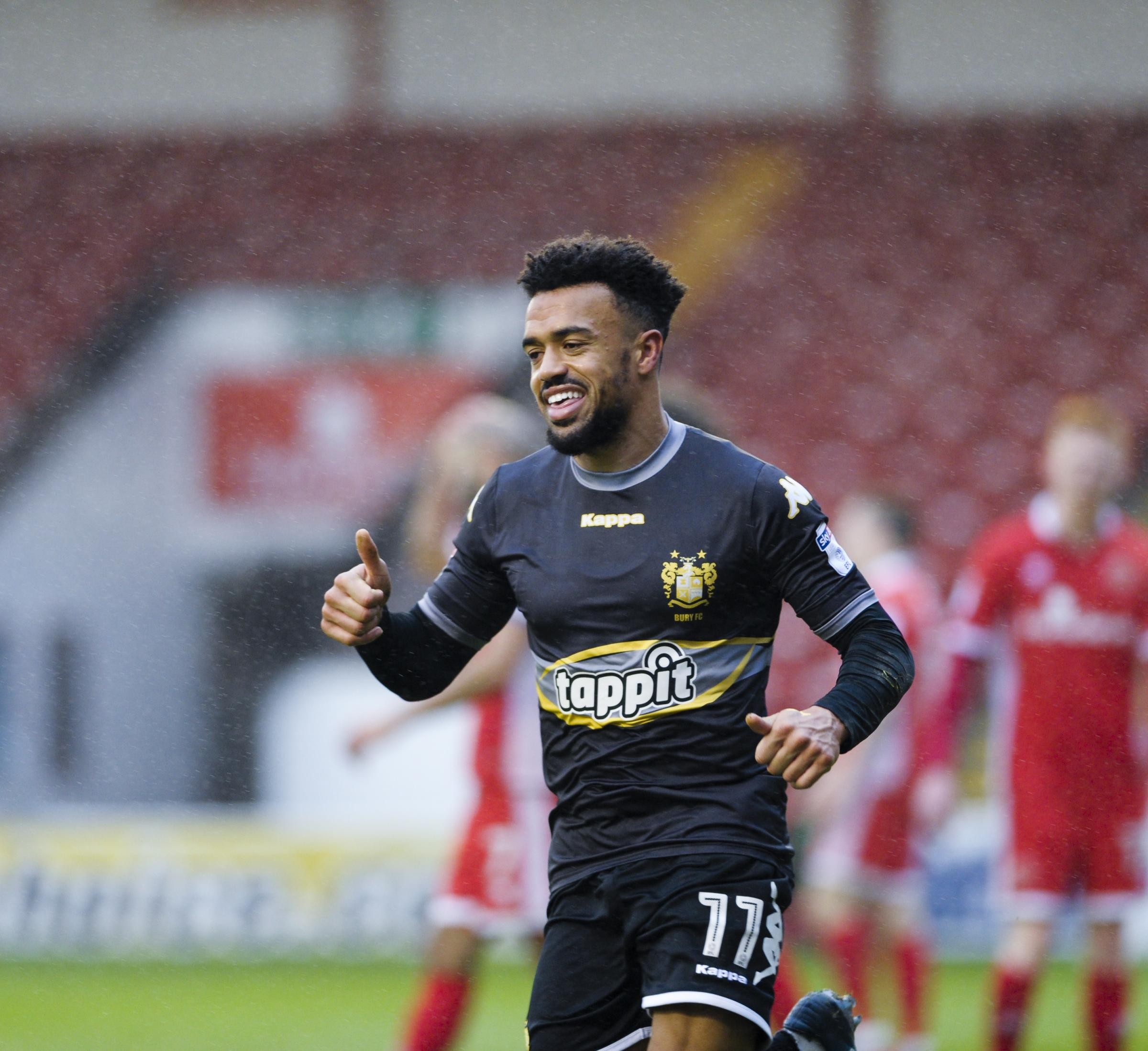 The smile is back on Nicky Ajose's face after a difficult start to his third spell at hometown club Bury