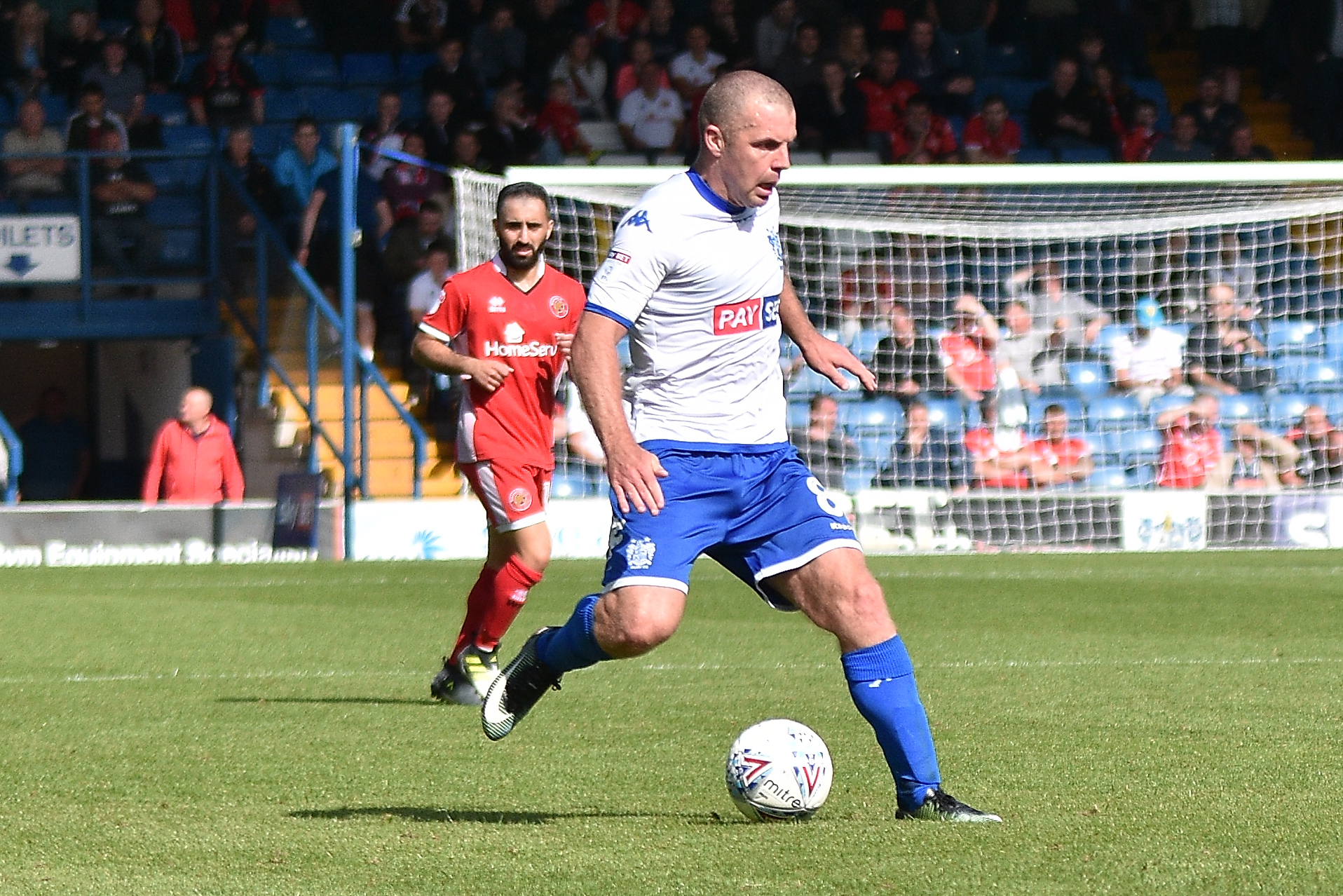 Stephen Dawson in Bury's first match of the season at home to Walsall