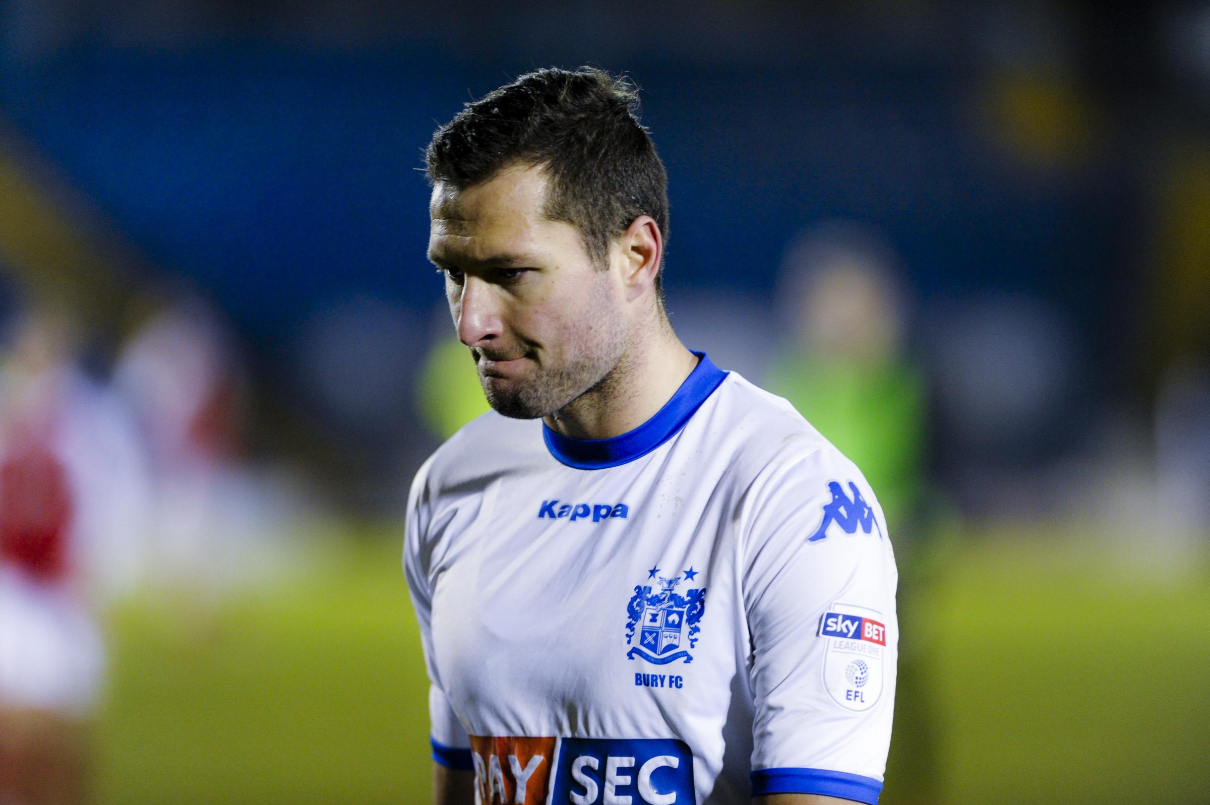 Bury defender Phil Edwards after the defeat to Fleetwood Town at Gigg Lane