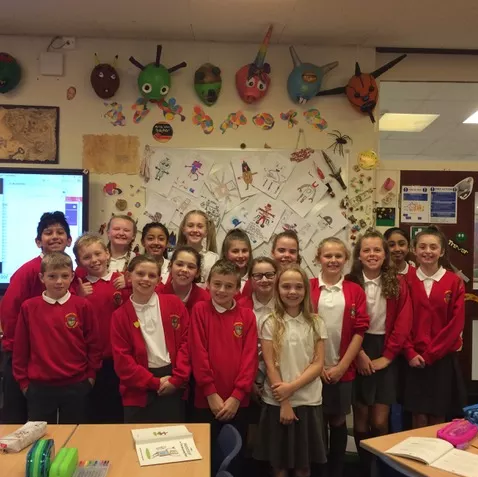 CREATIVE: Year six pupils at Lowercroft Primary School