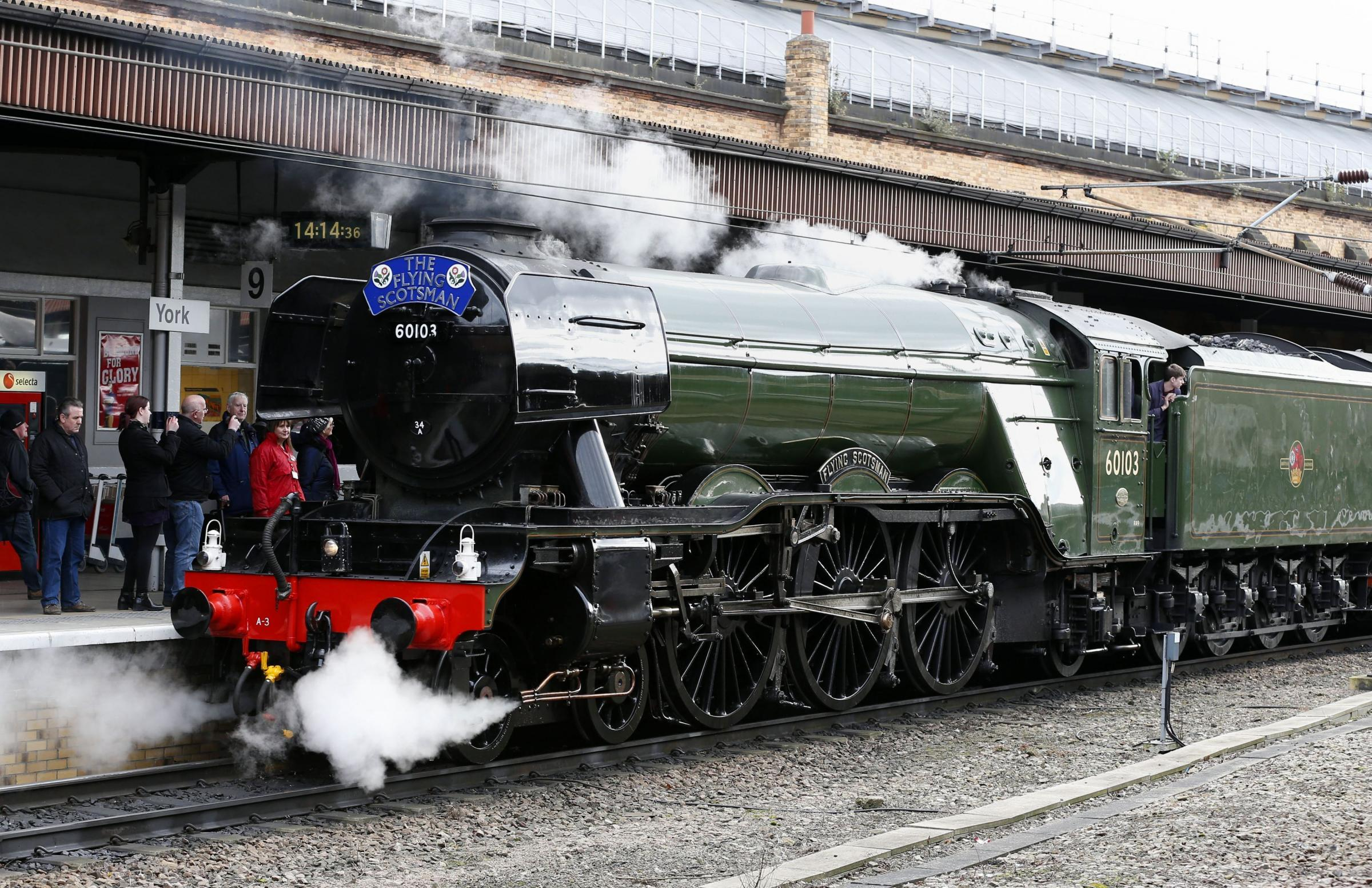 LOCO: The Flying Scotsman. Picture: Owen Humphreys/PA Wire