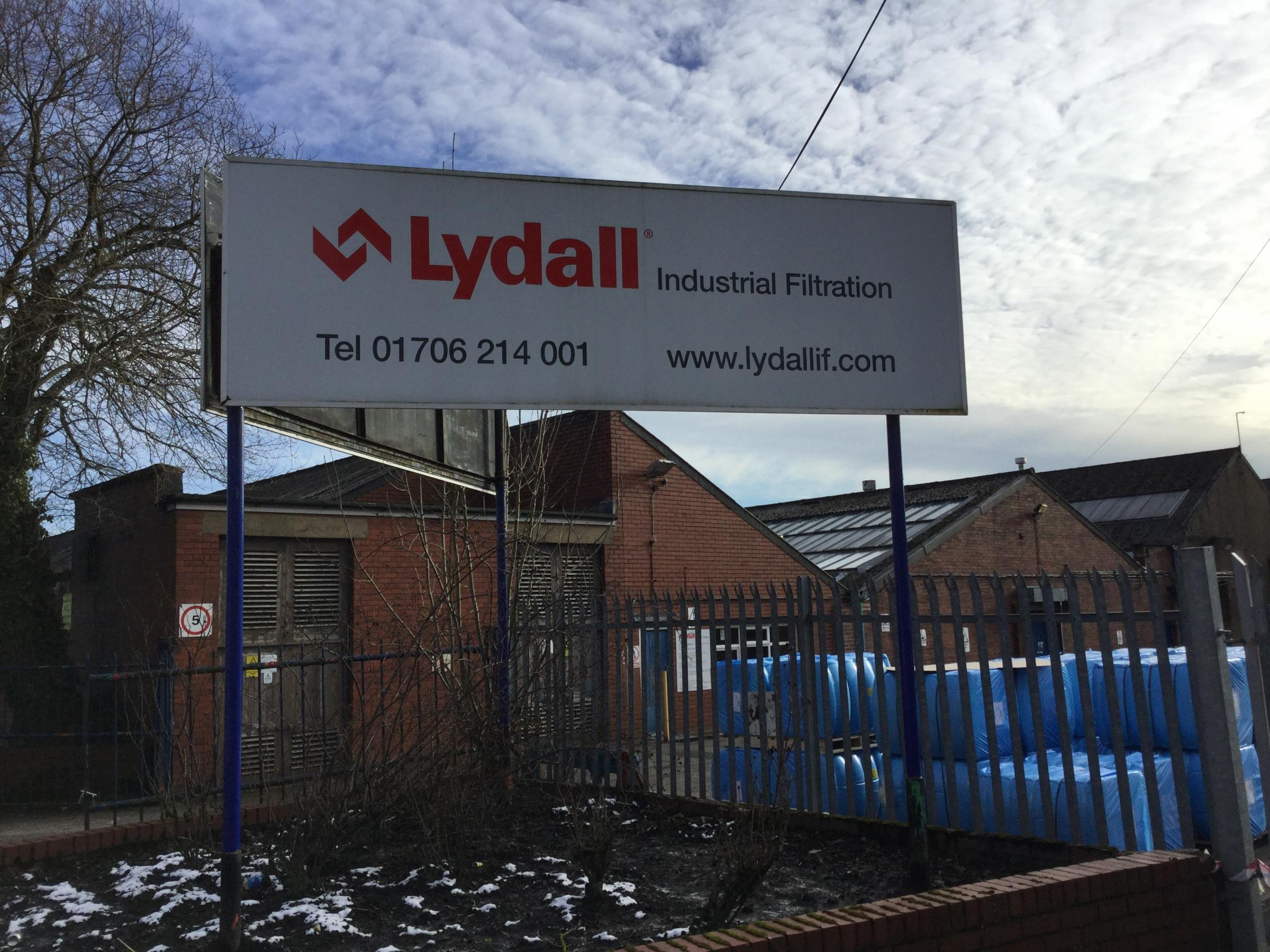 Lydall Industrial Filtration in Walshaw Road, Bury