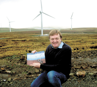 Paul Anderson, from Ramsbottom with his new calendar that has gone on sale