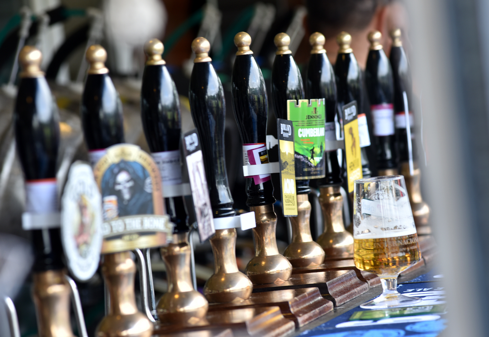 Beer taps. Photo Richard Holton.