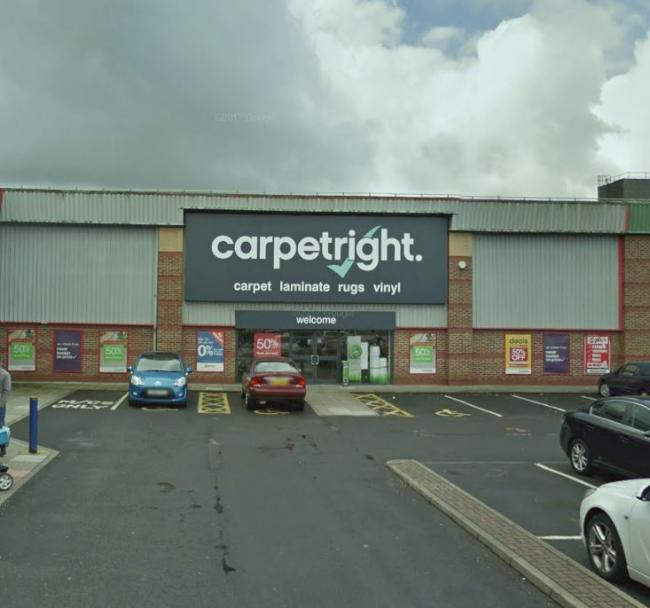 SHUTTING: Staff at Carpetright, based at Moorgate Retail Park, Bury, could lose
