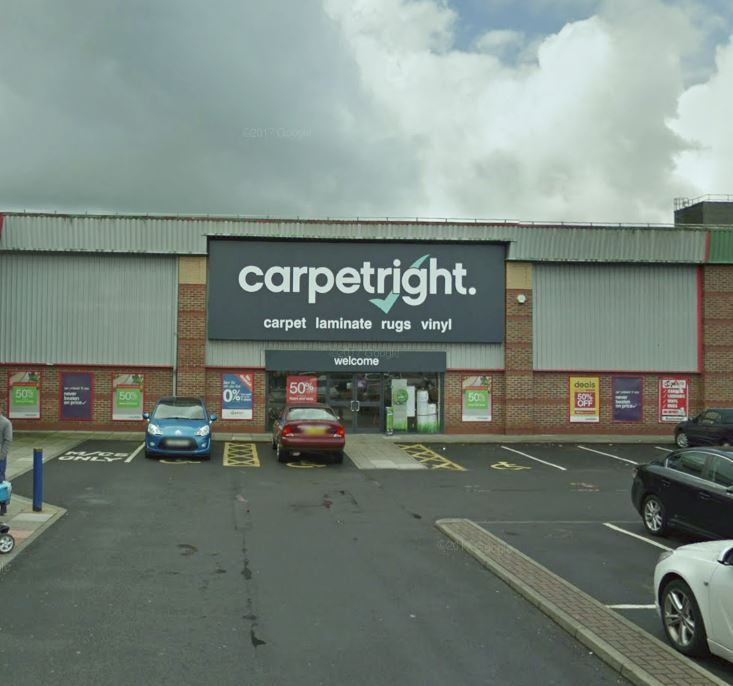 SHUTTING: Staff at Carpetright, based at Moorgate Retail Park, Bury, could lose their jobs after it was announced the store will close. Picture, Google Maps