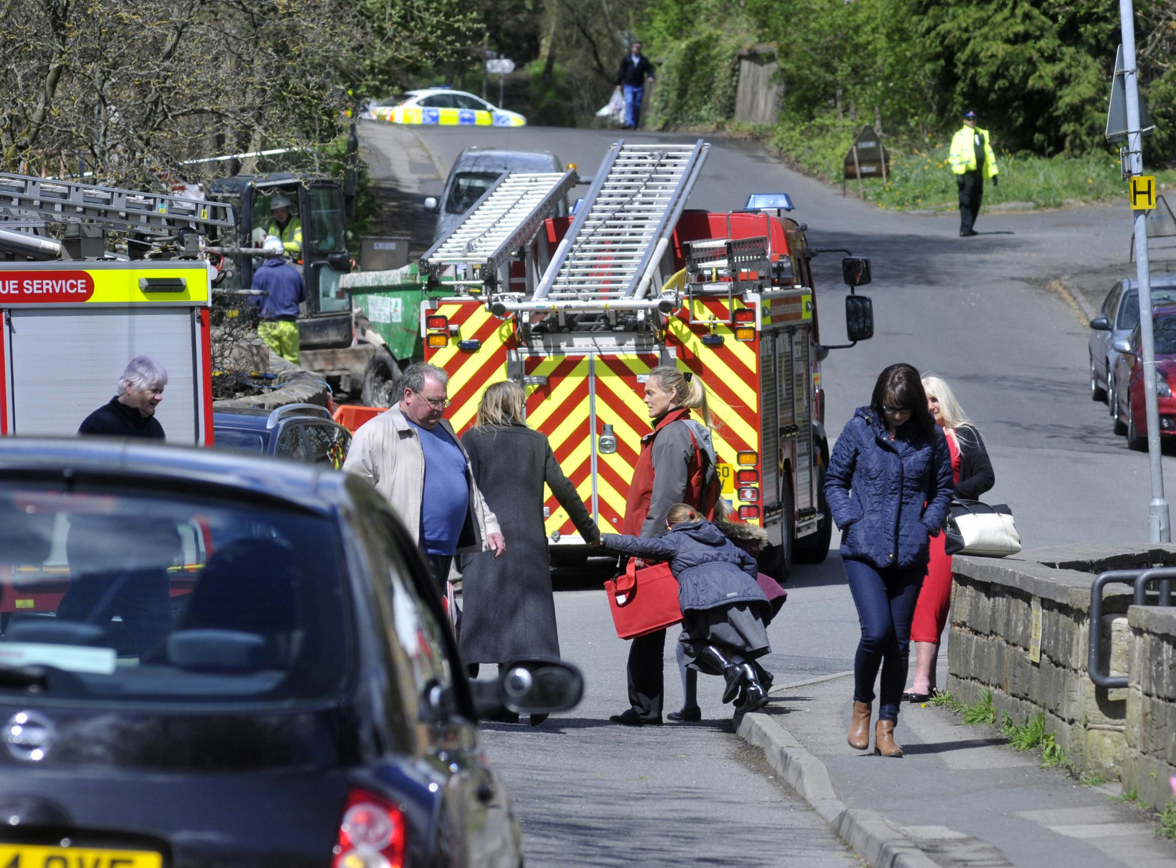 FIRE: The blaze at ITAC Limited, Stoneclough. Pupils from St Saviours were collected by parents