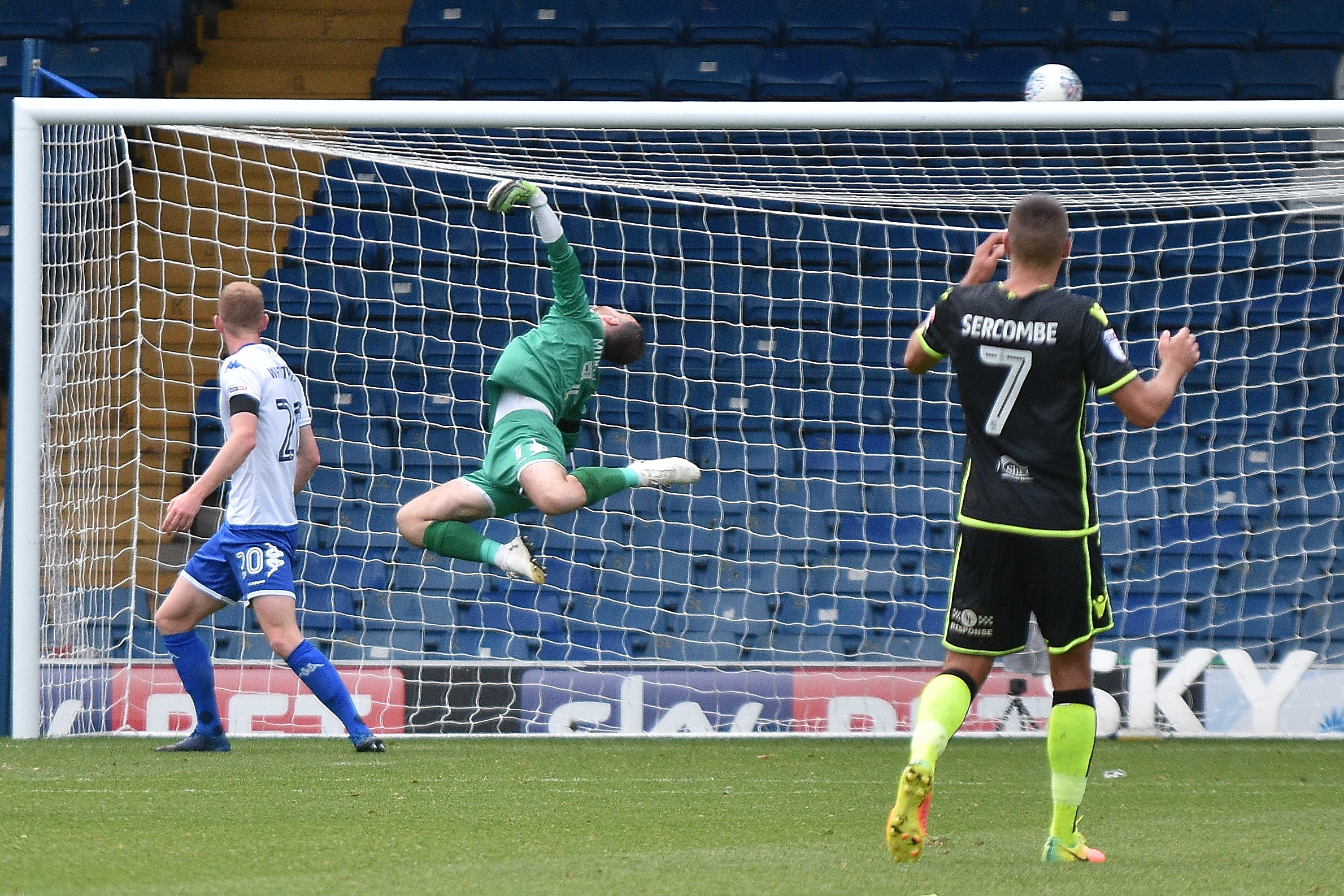 STAYING A SHAKER: Goalkeeper Joe Murphy has signed a new contract at Bury