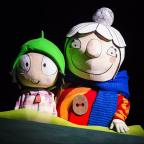 Bury Times: PLAY: Sarah and Scarf lady in Cbeebies Sarah and Duck. Picture Pamela Raith