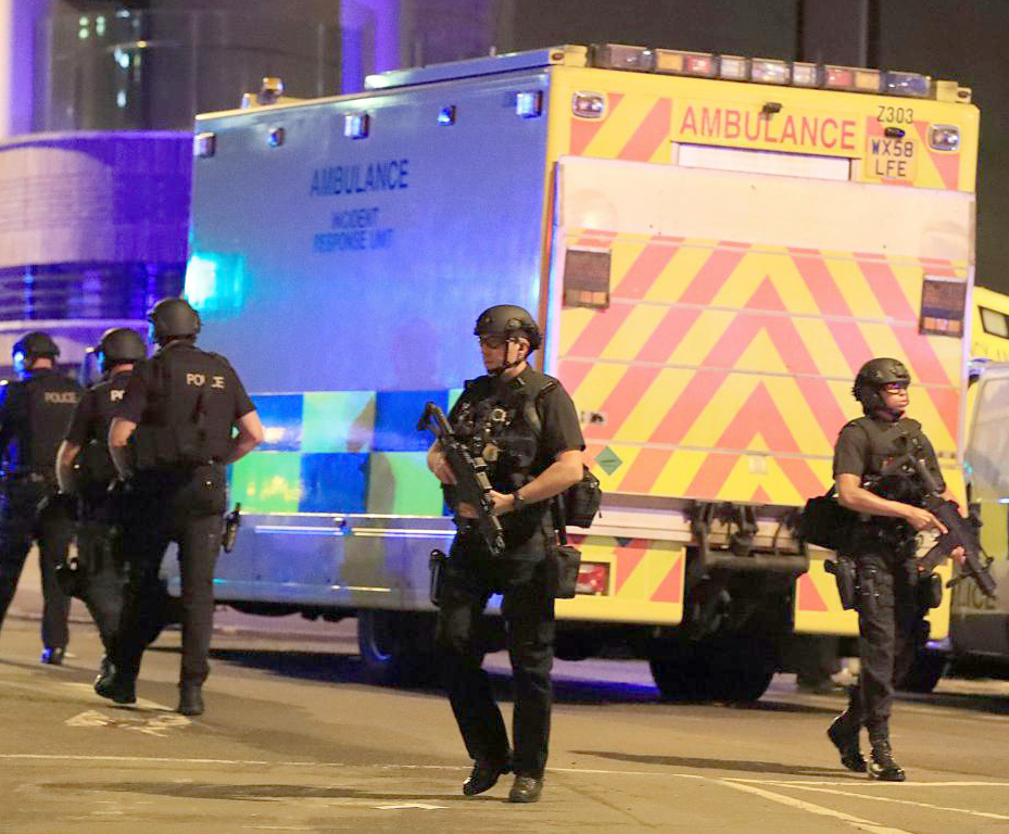 ATTACK: Police at the Manchester Arena