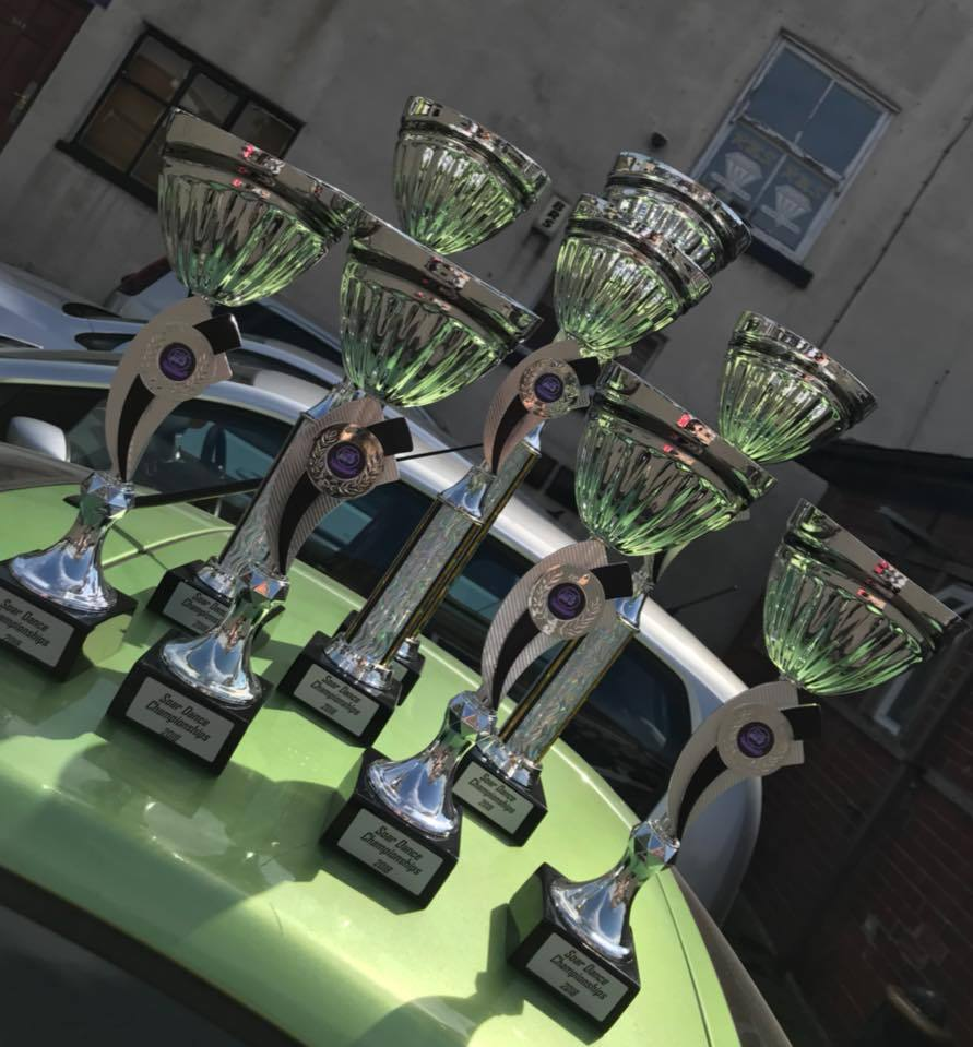 TROPHIES: Freak Dance Radcliffe returned home with several rewards for their hard work