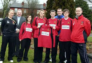 Tottington High footballers have been given new kits by the national Football Foundation