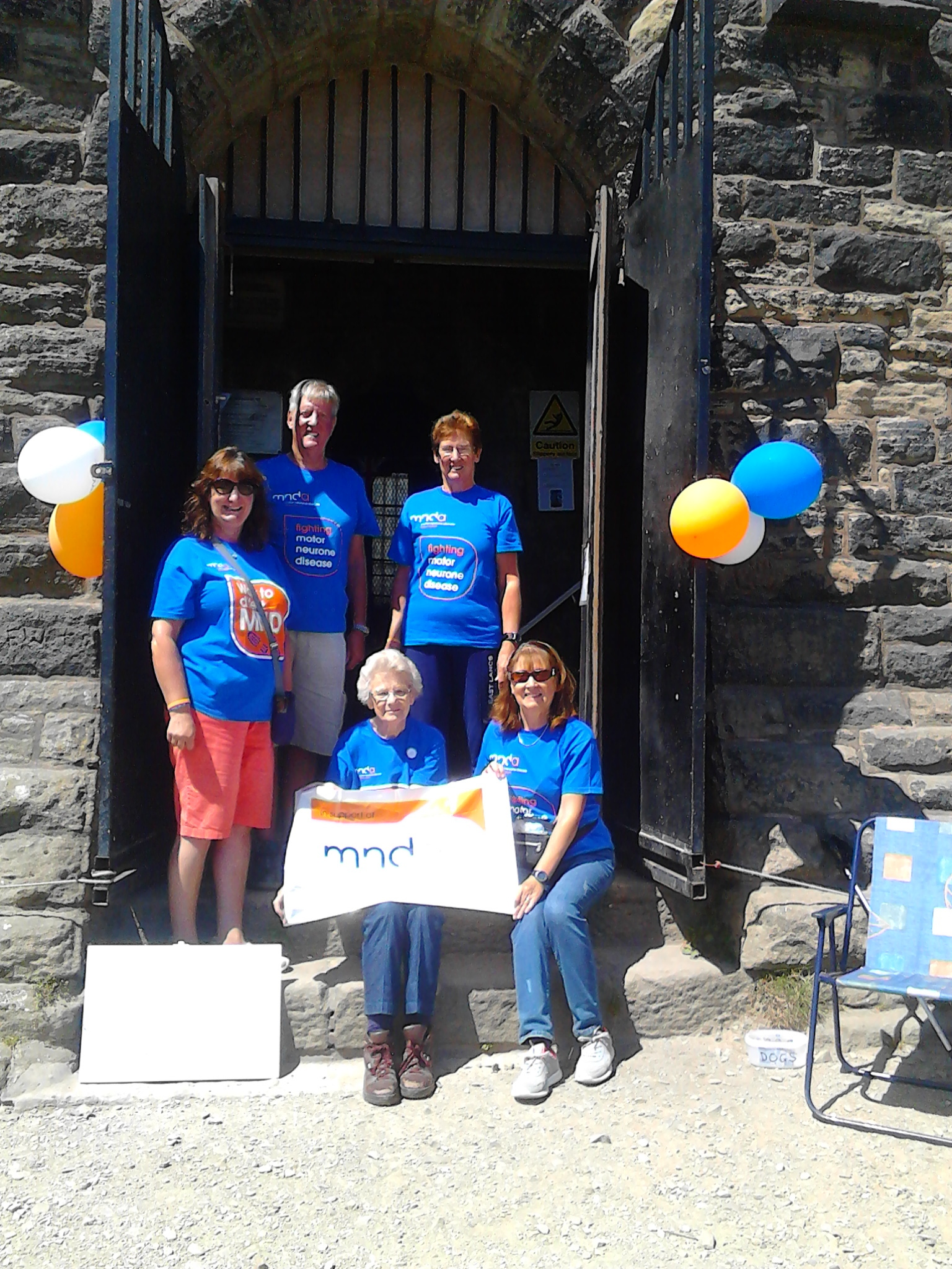 FUNDRAISING: Christine Lee, Phil Brown, Vivien Lee, Barbara Shelton and Motor Neurone Disease Association volunteer Barbara Tew