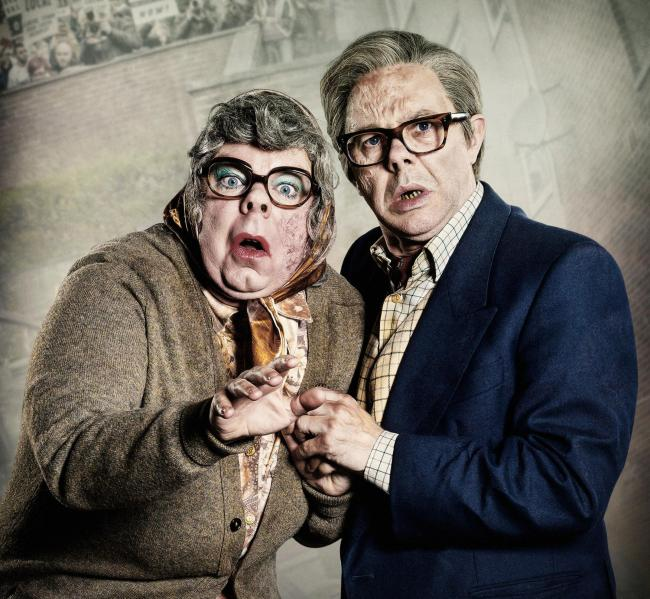 Steve Pemberton and Reece Sheersmith as Tubbs and Edward - The League of Gentlemen Live Again! © BBC DVD