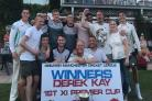 SILVER SERVICE: Greenmount celebrate with the Derek Kay First XI Cup