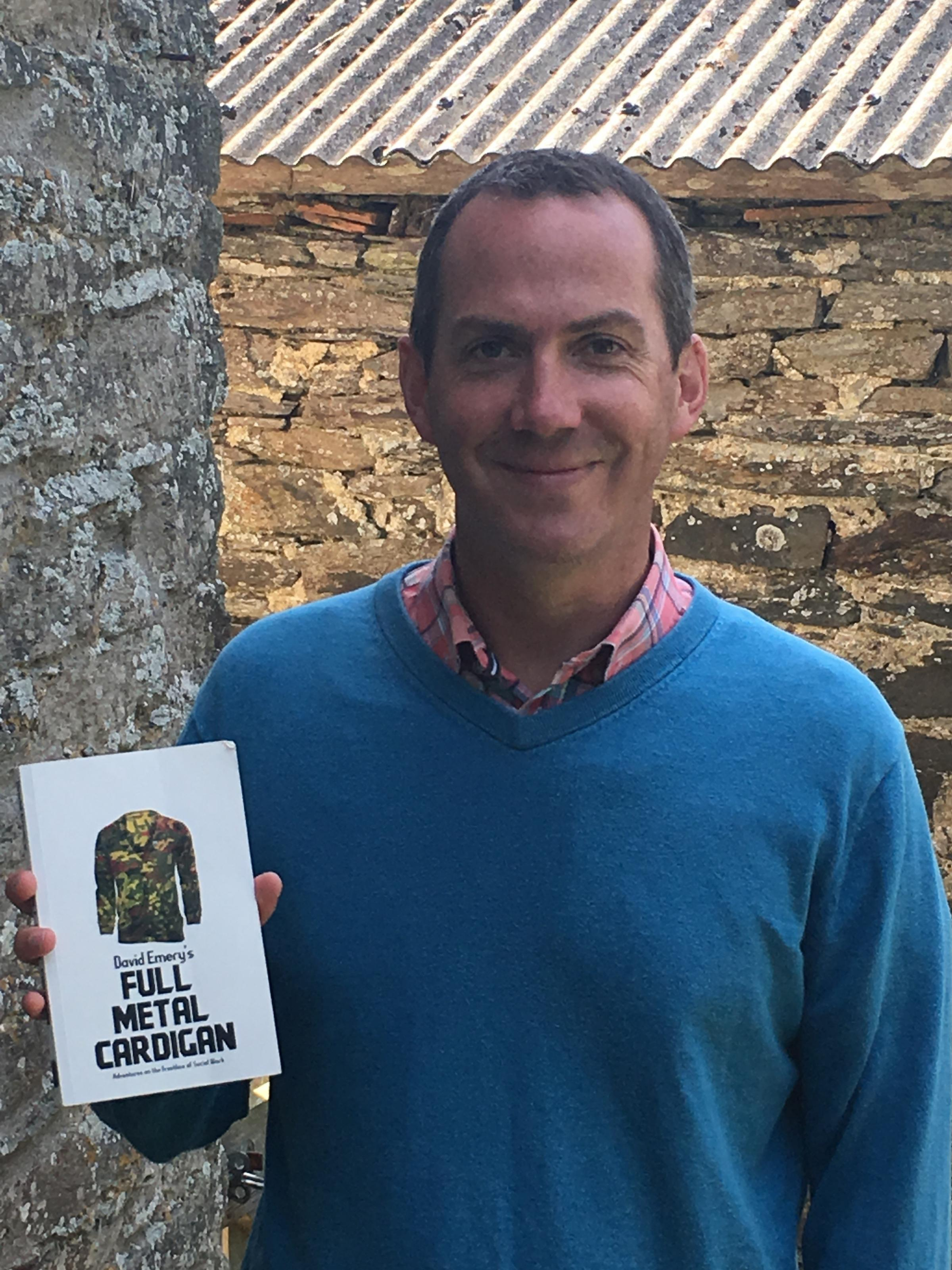 DEBUT: David Emery with a copy of his first book