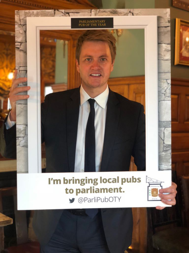 LAUNCH: James Frith, MP for Bury North, at the launch of the Parliamentary Pub of the Year awards in Westminster