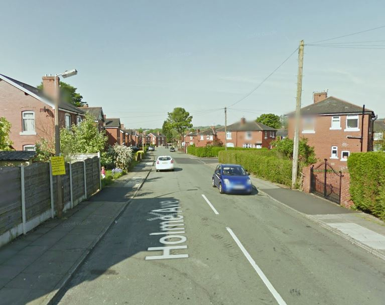 CRASH: The incident occurred in Holme Avenue, Brandlesholme. Picture, Google Maps