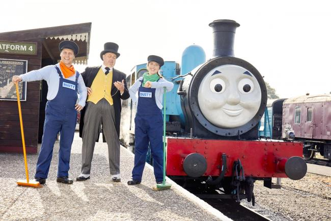 Thomas the Tank Engine, with The Fat Controller, and Rusty and Dusty. Photo: Paul Michael Hughes Photography