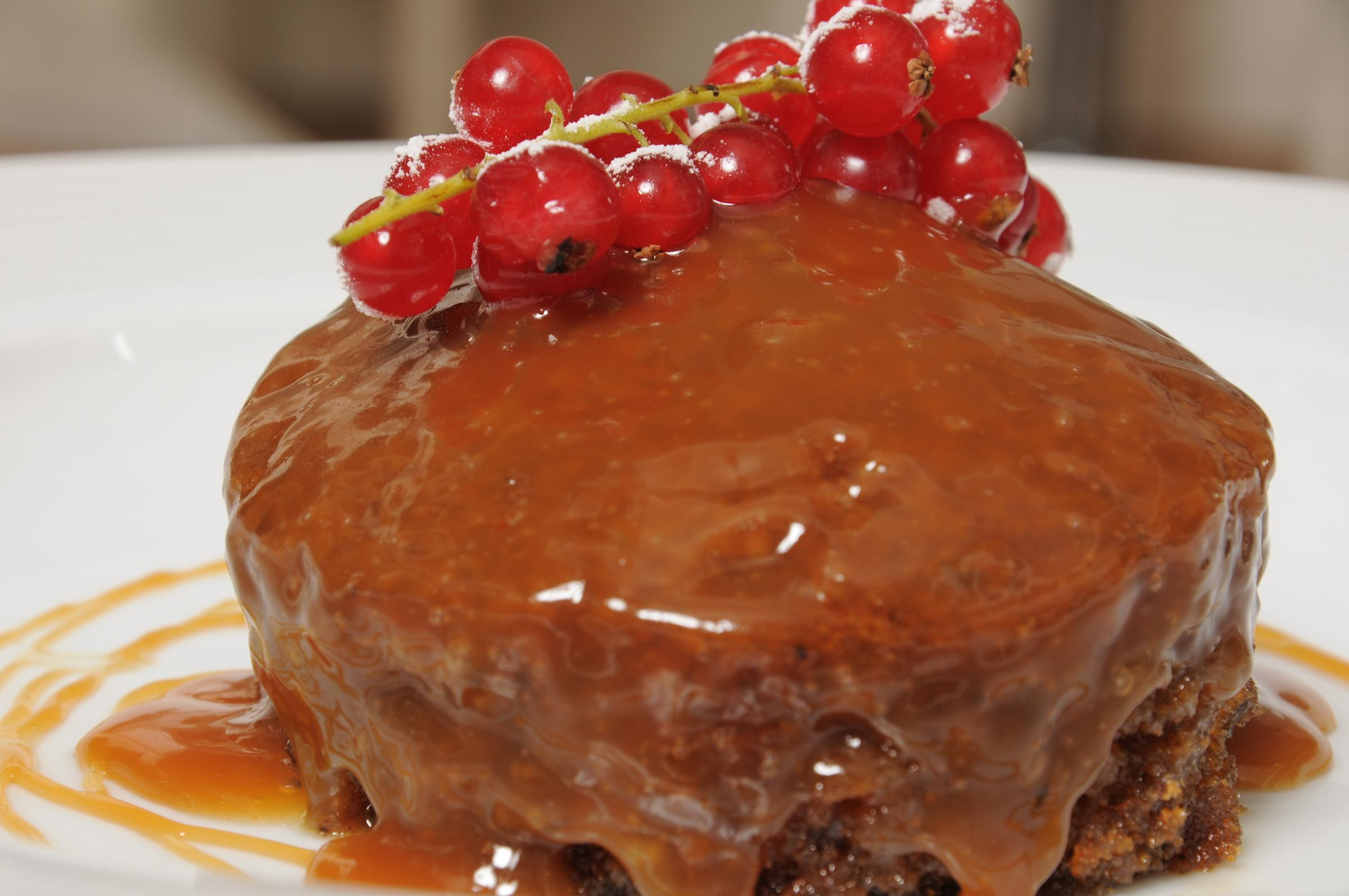 Nick's sticky toffee pudding