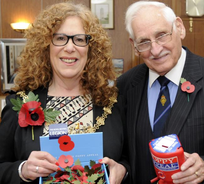 APPEAL: Colonel Eric Davidson with Mayor of Bury Cllr Jane Black