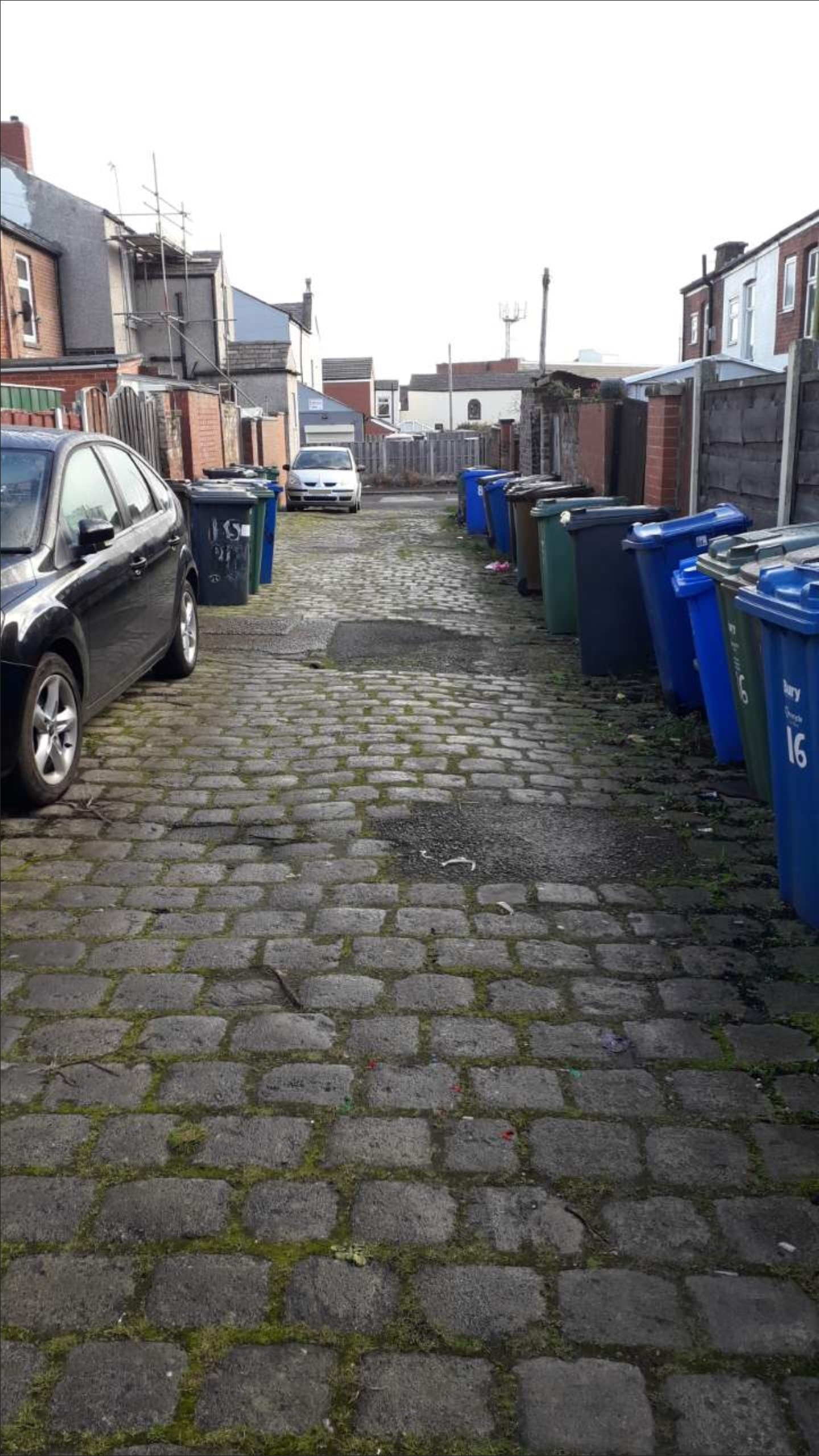 'Risk of injury' halts door-to-door bin collection