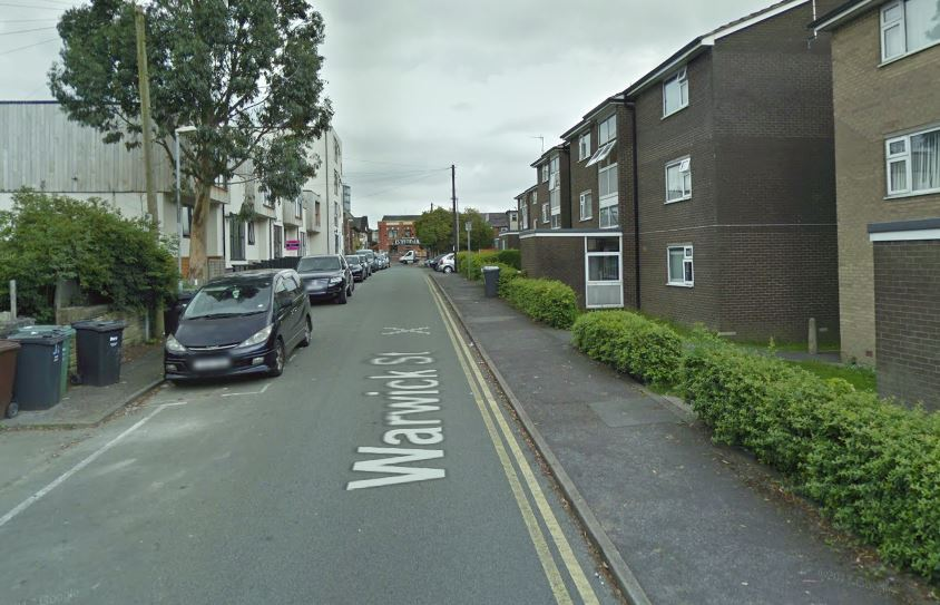 ARREST: A man has been arrested after police were called to Warwick Street, Prestwich. Picture, Google Maps