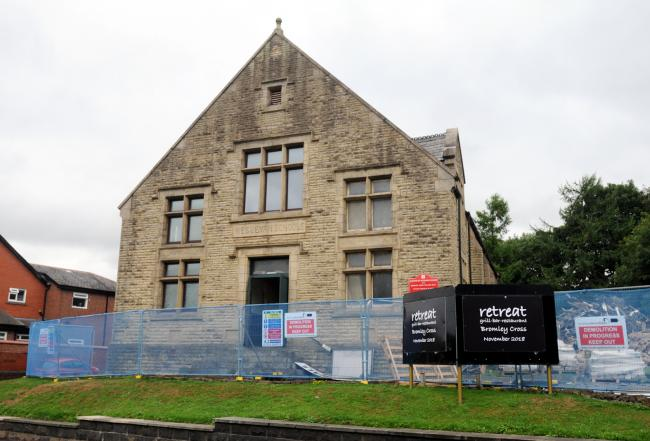 REFUSRBISHED: The Bromley Cross village hall will reopen as Retreat on Monday December 10.