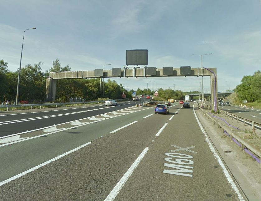 The M60 was shut at Junction 15 for Bolton following a serious crash. Picture, Google Maps