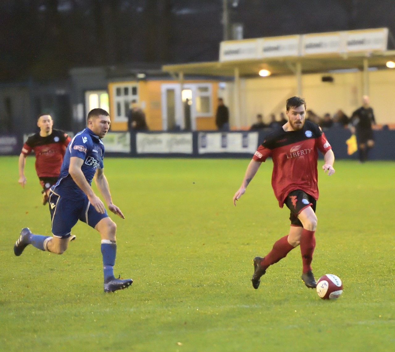 Jamie Rainford v Kidsgrove. Picture by Frank Crook